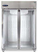 NEW 2 Glass Door Refrigerator NSF Cooler Hoshizaki R2A-FG Reach In #5731