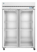 "NEW 2 Glass Door 55"" Freezer Solid Stainless Steel NSF Hoshizaki F2A-FG #5740"