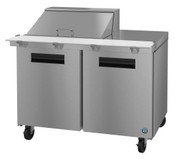 "60"" 2 Door Refrigerated Sandwich Prep Table SR60A-8 #5759"