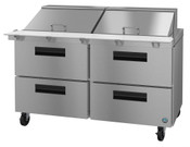 "60"" 4 Drawer Refrigerated Mega Top Prep Table SR60A-24MD4 #5765"