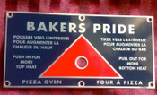 Baker Pride Pizza Oven Disbursement Slide Rod Plate NEW #1320