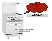 "24"" Range Griddle & Gas Oven Cook Rite ATO-24G NEW #6036"