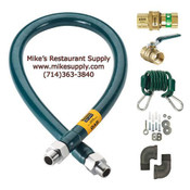 "60"" Gas Hose Kit w/ 1"" Interior 294k BTU/hr Krowne M10060K #6090"
