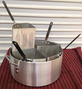 NEW 20 Qt Pasta Cooker Pot & Strainer Baskets Thunder Group ALSKPC1005 #1917