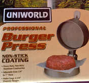 "4 3/8"" Adjustable Thickness Burger Press UNIWORLD MBP-100 (NEW) #1392"