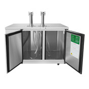 "NEW 2 Door 58"" Beer Keg Cooler Back Bar Solid Stainless Steel NSF Atosa MKC58GR #6788"