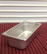 "1/3 Size 4"" Deep Stainless Steel Insert Pan (NEW) #1943"