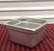 "1/6 Size Stainless Steel Insert Pan 4"" Deep THUNDER GROUP STPA8164 (NEW) #2009"