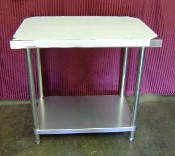 24 x 24 Work Table NSF Stainless Steel NEW #6979