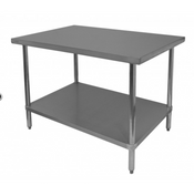 NEW 30x24 Work Table NSF Stainless Steel Top Galvanized Bottom #6980