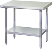 NEW 24X48 Work Table NSF Stainless Steel Top Galvanized Bottom #6982