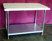 NEW 30X60 Work Table NSF Stainless Steel Top Galvanized Bottom #6986