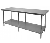 NEW 30X96 Work Table NSF Stainless Steel Top Galvanized Bottom #6989