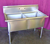 18x18 Sink 2 Compartment  No Drainboard NSF NEW  #6994