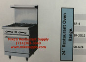"24"" Range Griddle & Gas Oven Stratus SR-G24 LP NEW #7266"