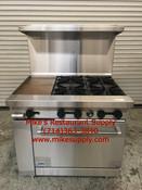 """NEW 36"""" LP Propane Range 4 Burner & 12"""" Griddle Oven Base Stratus SR-4G12 LP #7268"""