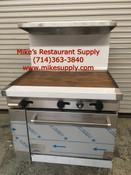 "NEW 36"" Gas Range Flat Top Griddle & Oven Base Stratus SR-G36 #7230"