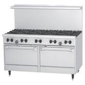 "NEW 60"" Range 10 Open Burners & Double Gas Ovens Stratus SR-10 #7231"