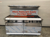 "60"" Range 6 Burner & Griddle & Gas Ovens Stratus SR-6G24 NEW #7233"