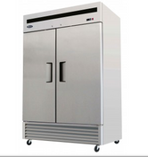 "NEW 2 Door 55"" Freezer Solid Stainless Steel Reach In NSF Atosa MBF8503GR #1931"