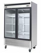 "NEW 2 Glass Door 55"" Freezer Merchandiser Reach In NSF Atosa MCF8703ES #2234"
