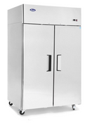 "NEW 2 Door 52"" Freezer Solid Stainless Steel Reach In NSF Atosa MBF8002GR #1086"