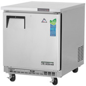 "NEW 1 Door 28"" Undercounter Freezer Stainless Steel Worktop NSF Everest ETBF1 #3111"