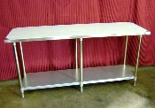 NEW 24X96 Work Table NSF Stainless Steel Top Galvanized Bottom #7814