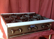 """36"""" 6 Burner Hot Plate SHP-36-6 NG Gas (NEW) #1183"""
