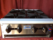 "NEW 24"" Hot Plate 4 Gas Burner Stratus SHP-24-4 #1121"
