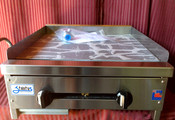 """24"""" Flat Top Griddle SMG-24 NG Gas (NEW) #1119"""