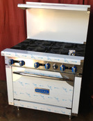 "36"" 6 Burner Range & Std Oven Base RR-6 NEW #1187"