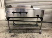 "NEW 48"" Taco Cart Plancha Flat Top Griddle & Steam Table Propane LP Gas #1234"