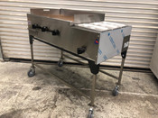 "48"" Taco Cart Griddle & Steam Table on Wheels LP SCC-48-G34-IS (NEW) #1234"