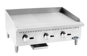"""NEW 36"""" Manual Griddle Plancha 3/4"""" Thick Polished Plate Stainless Steel Atosa ATMG-36 #2550"""