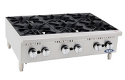 """NEW 36"""" 6 Burner Hot Plate Cast Iron Grates Countertop Stainless Steel Range Atosa ACHP-6 #2548"""