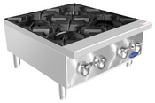 "NEW 24"" 4 Burner Hot Plate Cast Iron Grates Countertop Stainless Steel Range Atosa ACHP-4 #2547"