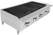 """NEW 48"""" Char-Rock Broiler Reversible Cast Iron Grates Countertop Stainless Steel Atosa ATCB-48 #2545"""