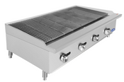 """NEW 48"""" Radiant Broiler Reversible Cast Iron Grates Countertop Stainless Steel Atosa ATRC-48 #2542"""