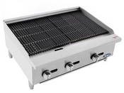 """NEW 36"""" Radiant Broiler Reversible Cast Iron Grates Countertop Stainless Steel Atosa ATRC-36 #2541"""