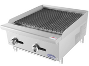 "NEW 24"" Radiant Broiler Reversible Cast Iron Grates Countertop Stainless Steel Atosa ATRC-24 #2540"