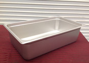 """1/3 Size Stainless Steel Insert Pan 2 1/2"""" Deep THUNDER GROUP STPA8132 (NEW) #9086"""