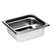 "NEW 1/6 Size Stainless Steel Insert Pan 2 1/2"" Deep NSF Thunder Group STPA3162 #9087"