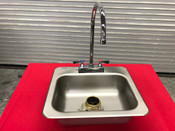 "14"" Drop In Hand Sink & Faucet Tabco NEW #9390"