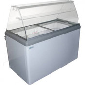 NEW 7 Pan Gelato Dipping Cabinet Display Freezer Excellence HBG-7HC #9679