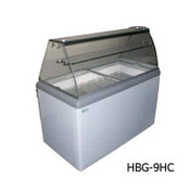 9 Pan Gelato Dipping Cabinet HBG-9HC NEW #9680