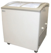 2 Basket Sliding Curved Lid Ice Cream Freezer VB-2HC #9693