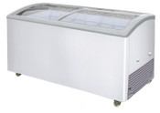 NEW 7 Basket Sliding Curved Glass Lid Top Ice Cream Freezer NSF Excellence VB-7HC #9698