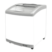NEW Mini Ice Cream Freezer Curved Glass Top NSF Excellence MC-2HC NEW #9701