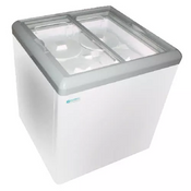 "NEW 32"" Sliding Flat Glass Top Lid Ice Cream Freezer NSF Excellence HL-7HC #9715"